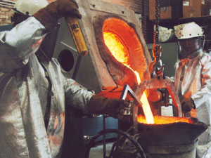 Foundry crucilbe in use